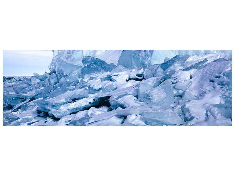 Leinwandbild Panorama Eislandschaft Baikalsee