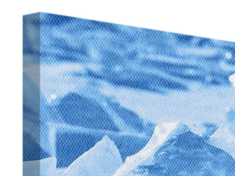 Leinwandbild Panorama Eis des Baikalsees