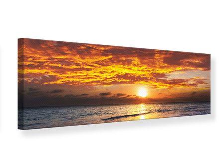 Leinwandbild Panorama Entspannung am Meer