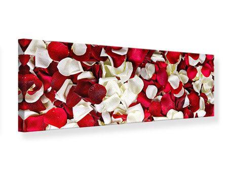 Leinwandbild Panorama Rosenblätter
