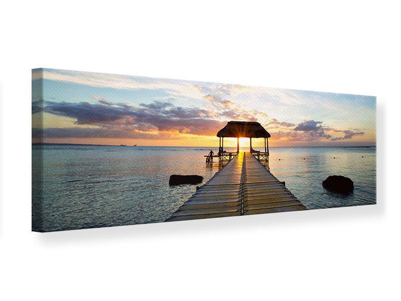 Leinwandbild Panorama Romantik auf Mauritius