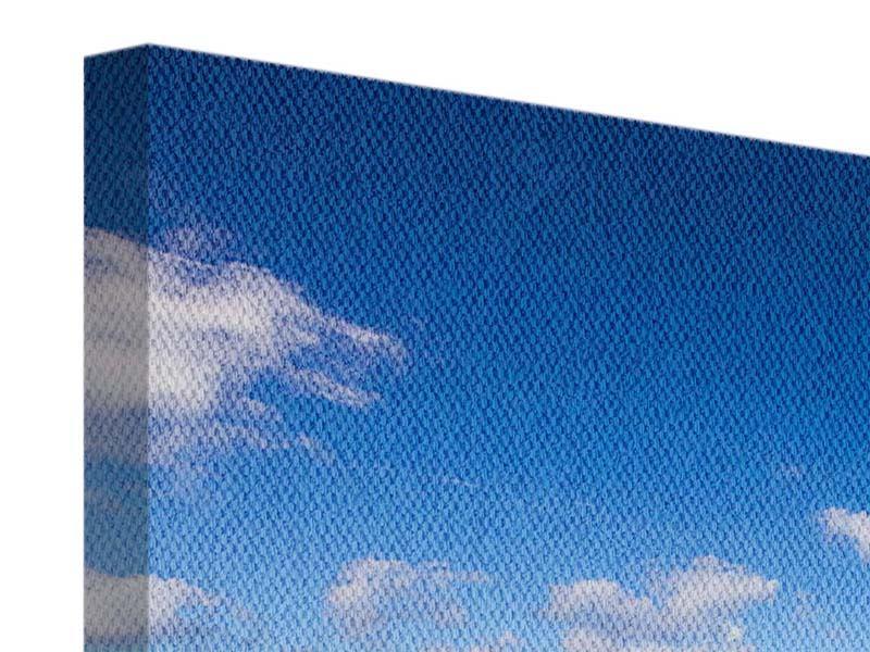Leinwandbild Panorama Die Gezeiten und das Meer