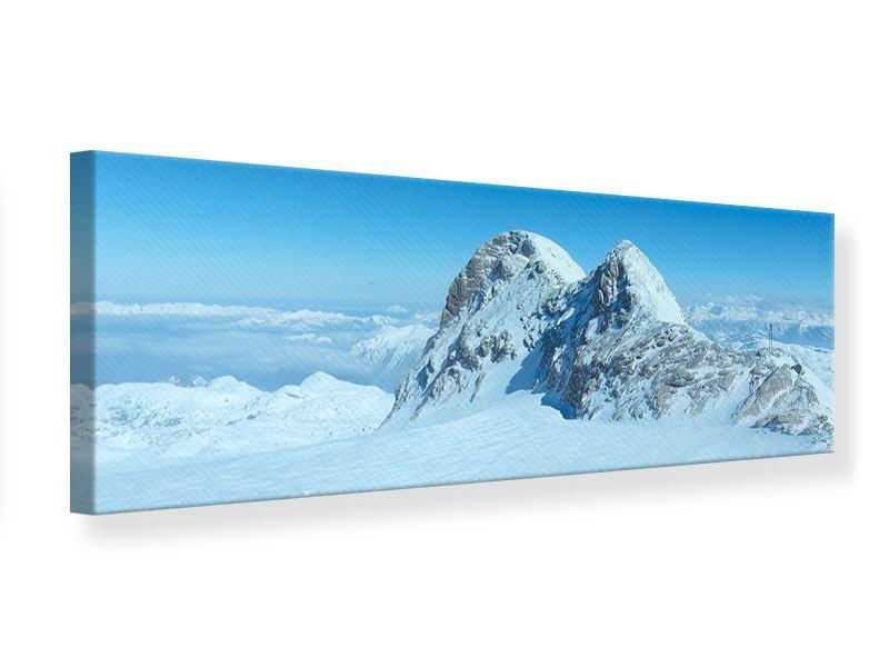 Leinwandbild Panorama Über den Wolken