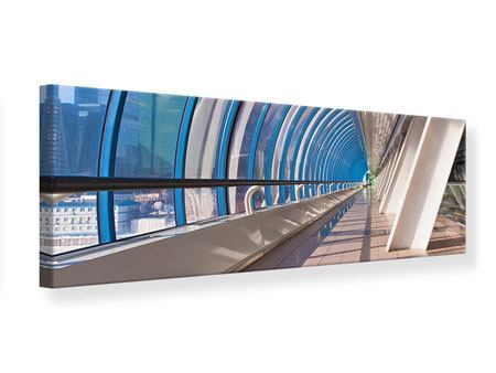 Leinwandbild Panorama Hypermoderne Brücke