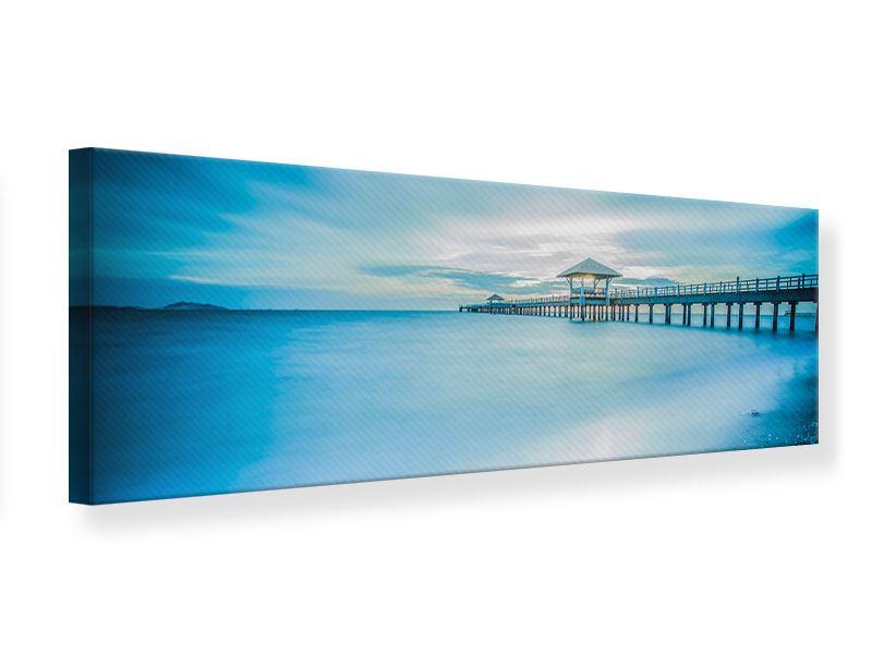 Leinwandbild Panorama Brückenimpression