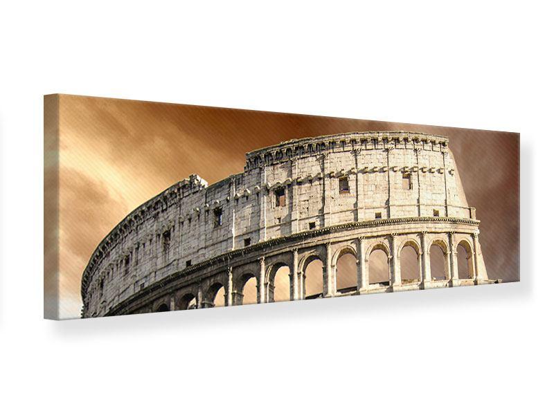 Leinwandbild Panorama Kolosseum Rom