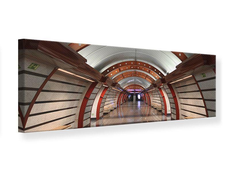 Leinwandbild Panorama U-Bahn Station