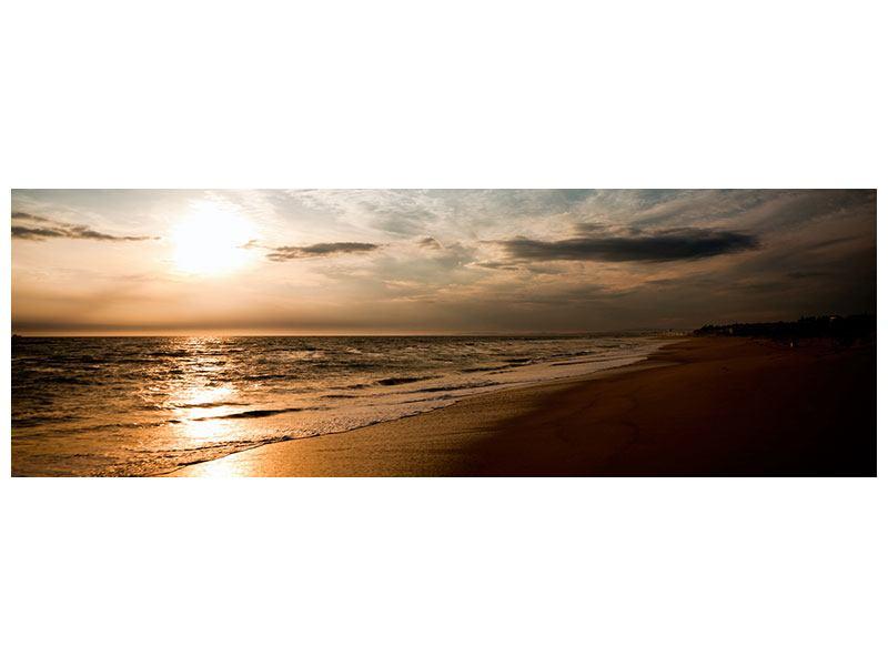 Leinwandbild Panorama Strandspaziergang