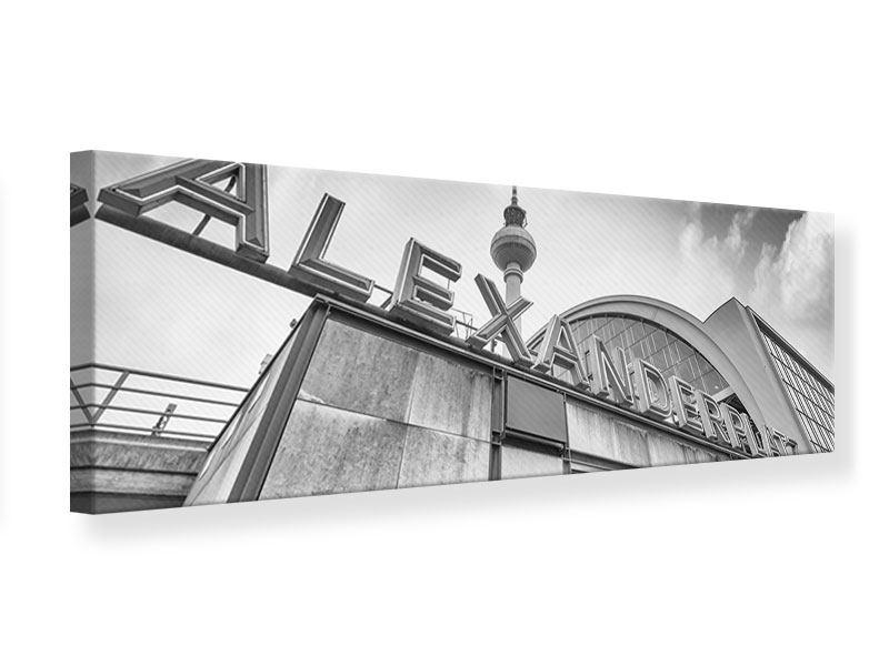 Leinwandbild Panorama Alexanderplatz