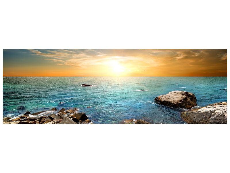 Leinwandbild Panorama Meerwasser