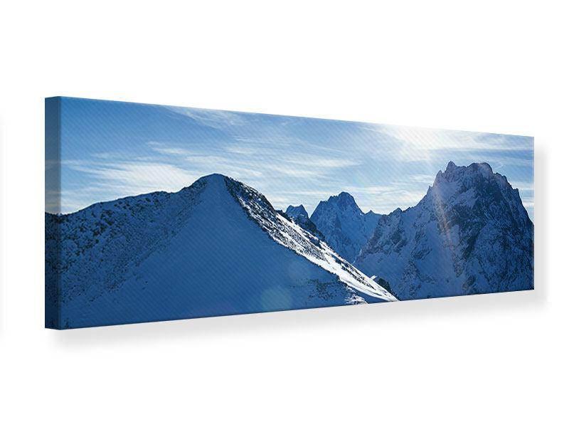 Leinwandbild Panorama Der Berg im Schnee
