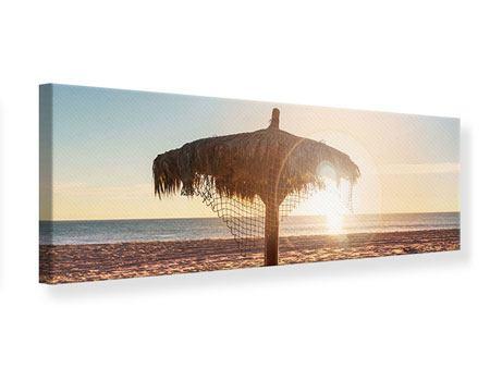 Leinwandbild Panorama Der Sonnenschirm