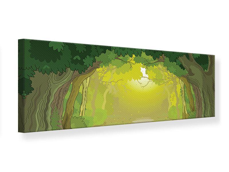 Leinwandbild Panorama Der Märchenwald