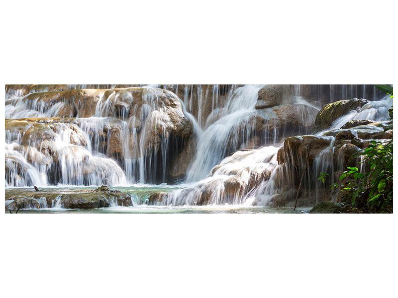 Leinwandbild Panorama Mexikanischer Wasserfall