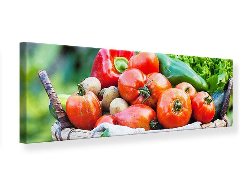 Leinwandbild Panorama Gemüsekorb