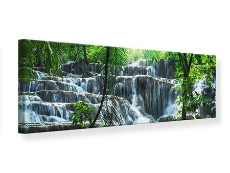 Leinwandbild Panorama Wasserfall Agua Azul