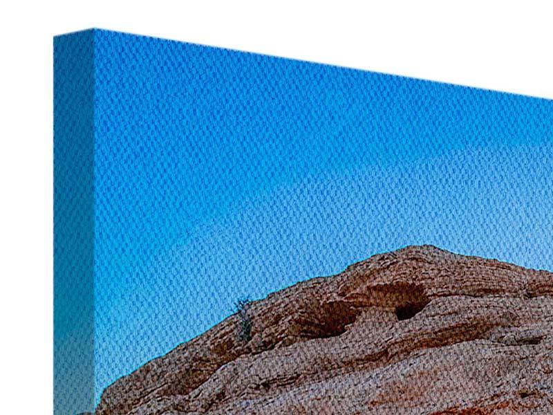 Leinwandbild Panorama Sonnenuntergang am Mesa Arch