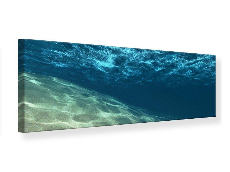Leinwandbild Panorama Unter dem Wasser
