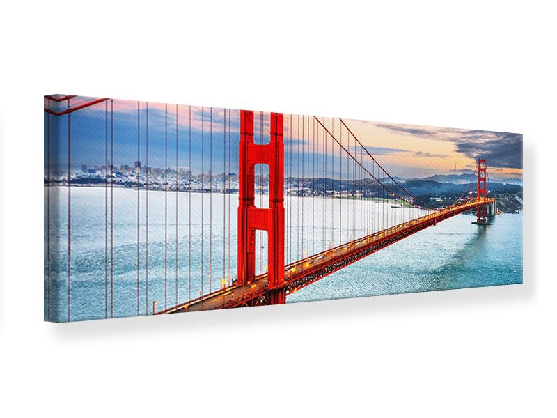 Leinwandbild Panorama Der Golden Gate Bridge Bei