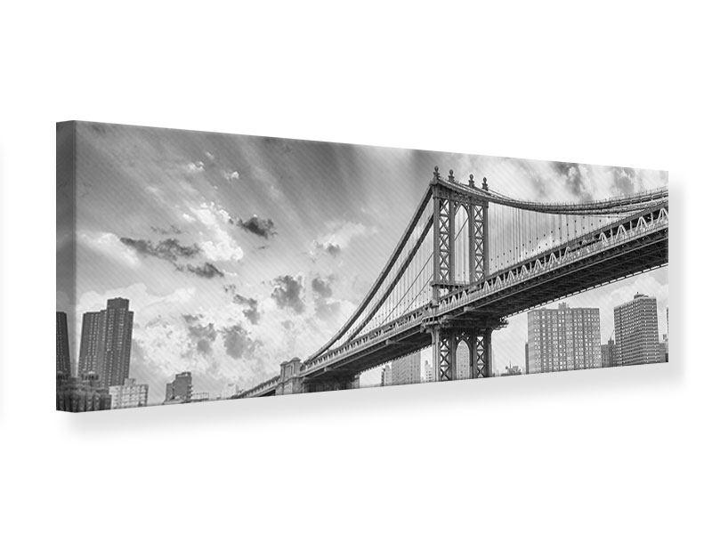 Leinwandbild Panorama Manhattan Bridge