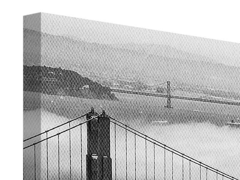 Leinwandbild Panorama Golden Gate Brücke
