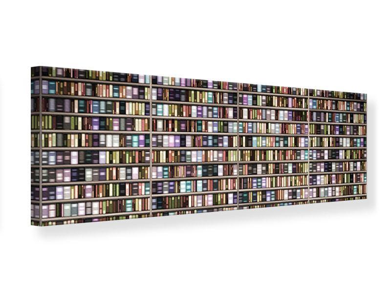Leinwandbild Panorama Bücherregal
