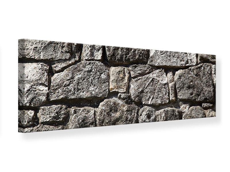 Leinwandbild Panorama Grosses Mauerwerk