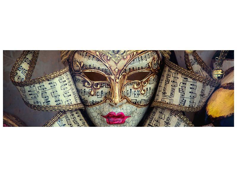 Leinwandbild Panorama Venezianische Maske