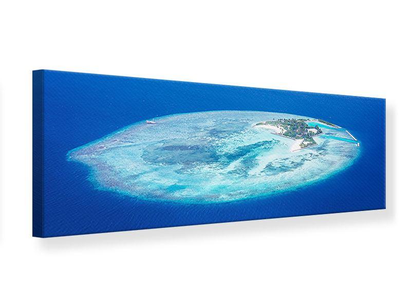 Leinwandbild Panorama Reif für die Trauminsel