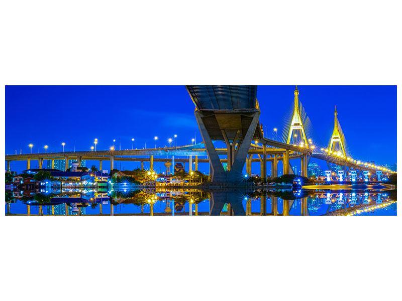 Leinwandbild Panorama Bhumiboll-Brücke