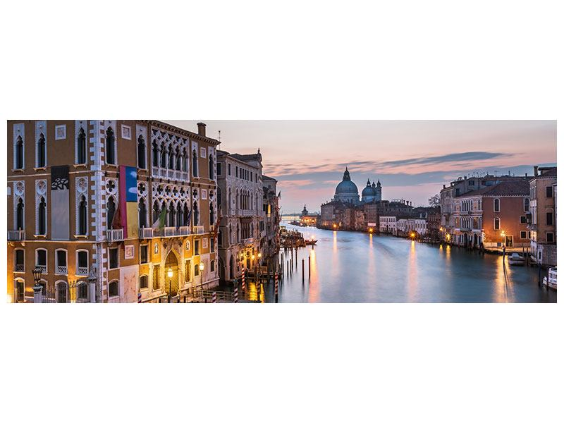 Leinwandbild Panorama Romantisches Venedig