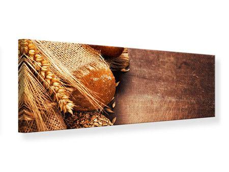 Leinwandbild Panorama Frische Brote