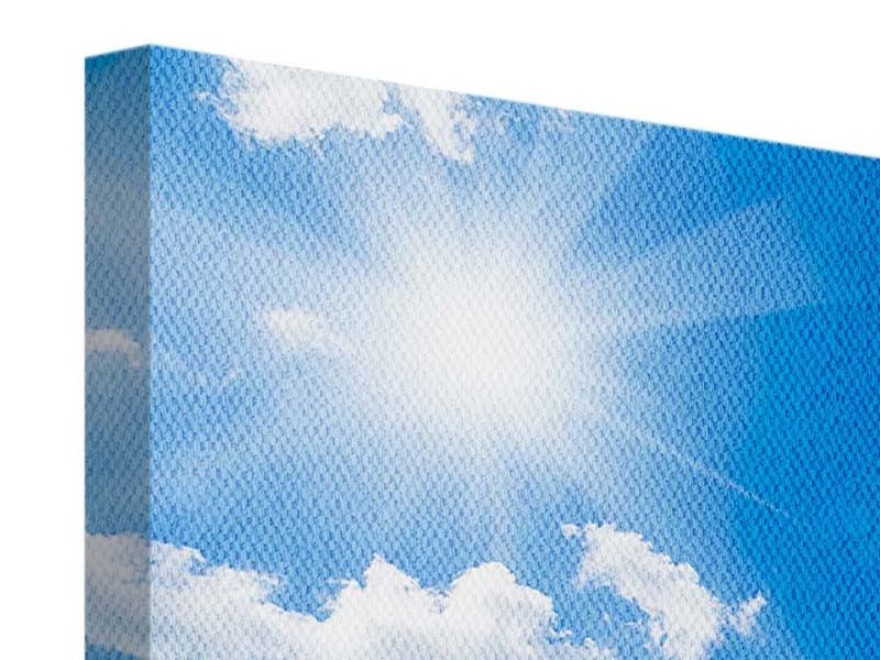 Leinwandbild 3-teilig Himmelblau