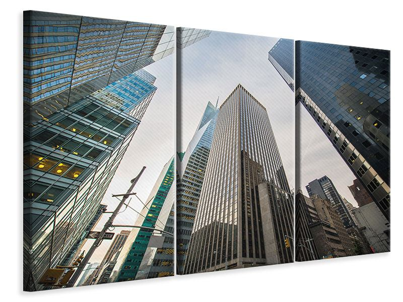 3 Piece Canvas Print Skyscrapers