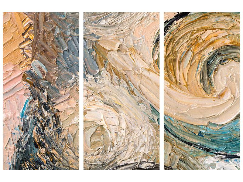 Leinwandbild 3-teilig Ölgemälde