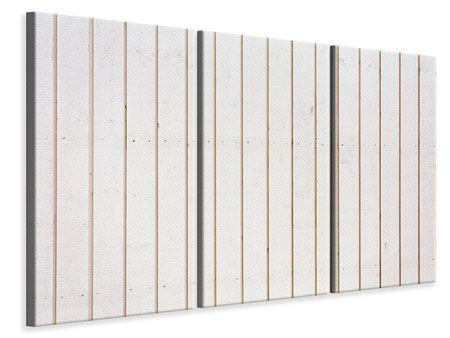 Leinwandbild 3-teilig Mediterranes Holz
