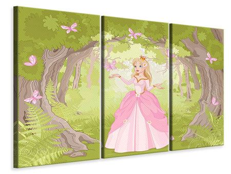 Leinwandbild 3-teilig Princess