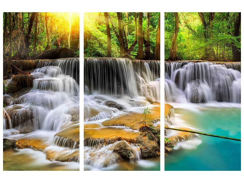 Leinwandbild 3-teilig Nationalpark Si Nakharin