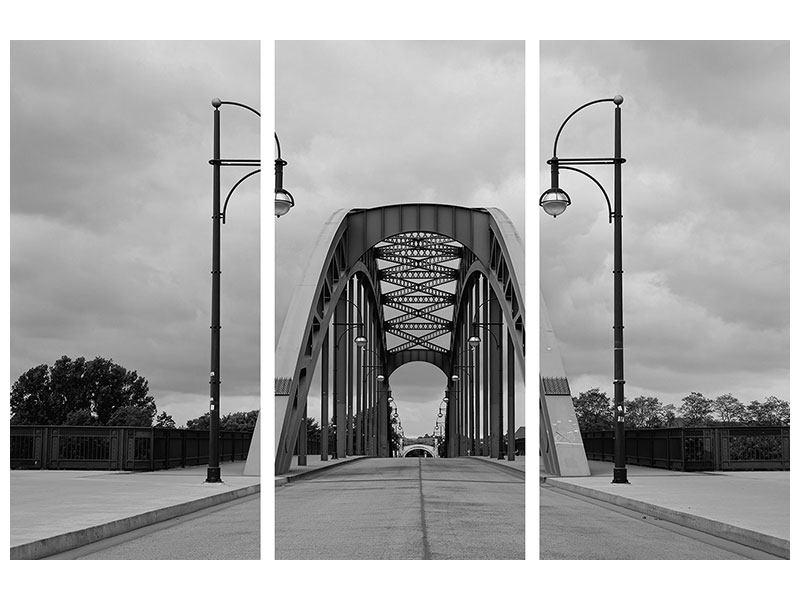 Leinwandbild 3-teilig Poetische Brücke