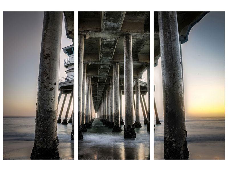 Leinwandbild 3-teilig Brückenpfeiler