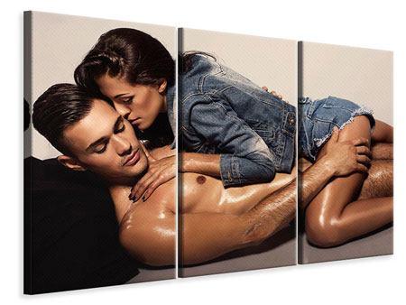 Leinwandbild 3-teilig Love Is In The Air