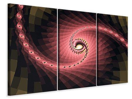 Leinwandbild 3-teilig Abstrakte Windungen