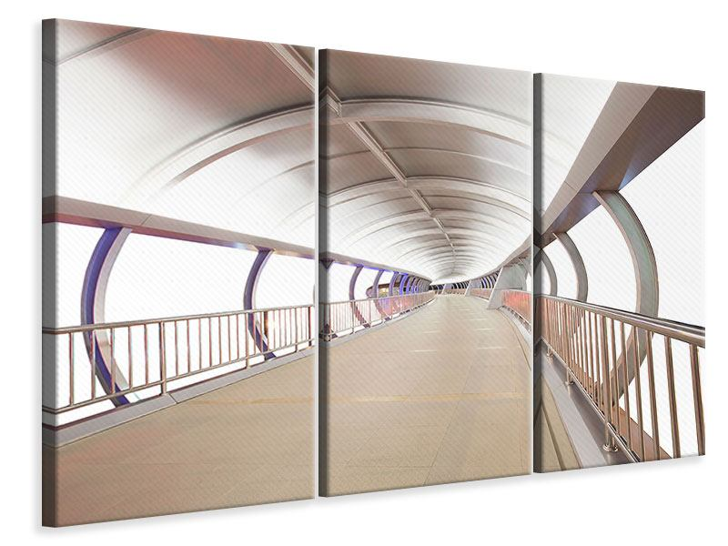 Leinwandbild 3-teilig Brückenfeeling