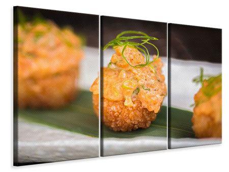 Leinwandbild 3-teilig Asiatische Küche