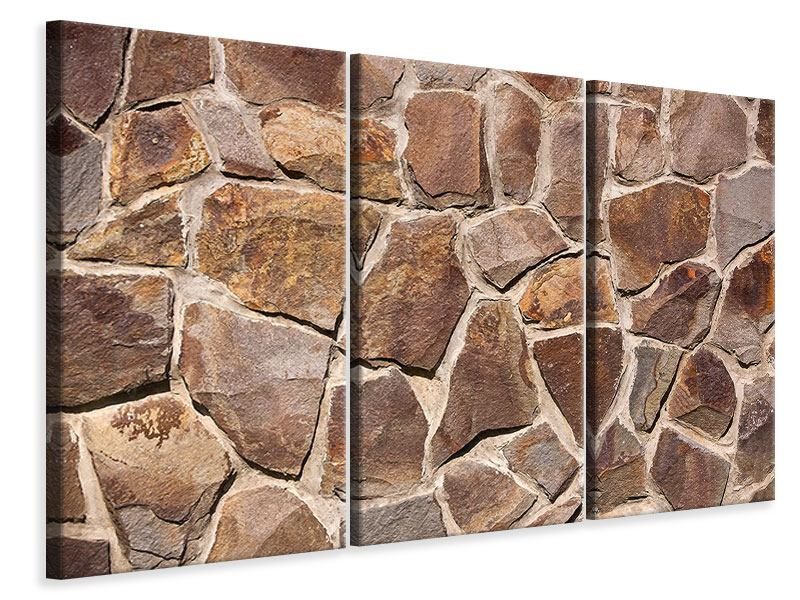 Leinwandbild 3-teilig Designmauer