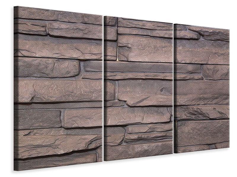 Leinwandbild 3-teilig Luxusmauer