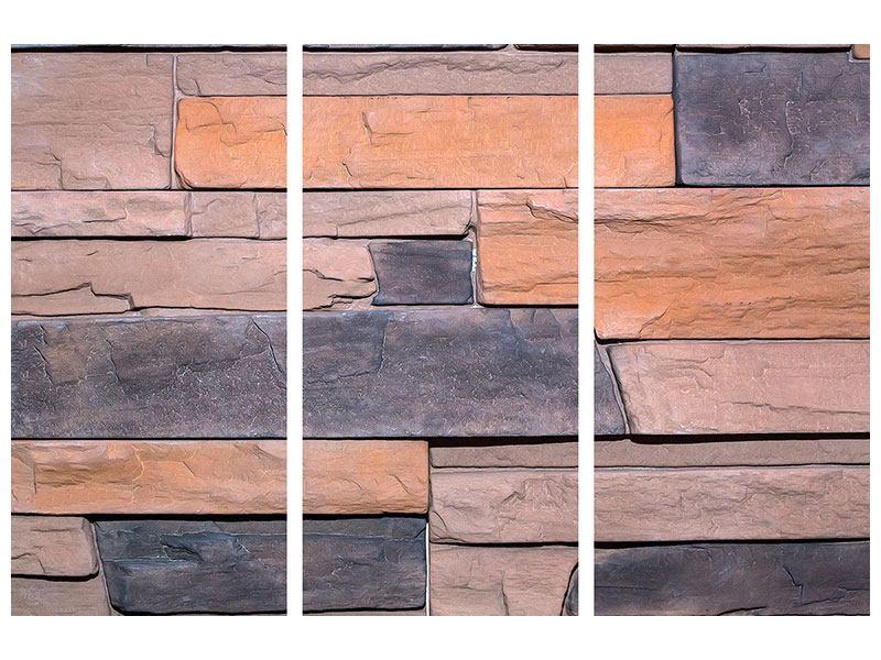 Leinwandbild 3-teilig Wall