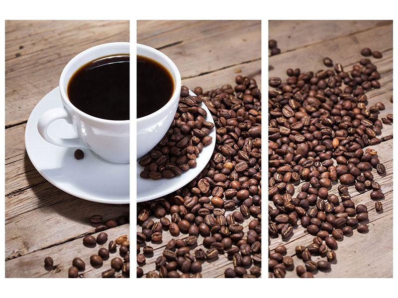 Leinwandbild 3-teilig Coffee
