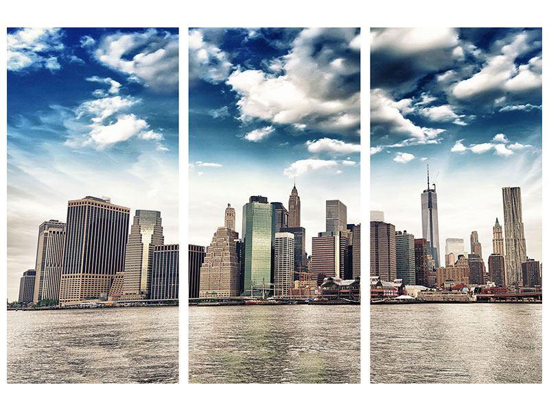 Leinwandbild 3-teilig NYC From The Other Side