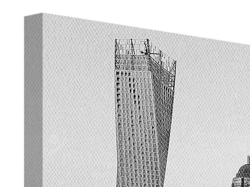 Leinwandbild 3-teilig Majestätische Wolkenkratzer in Dubai